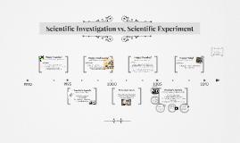 Scientific Investigation vs. Scientific Experiment