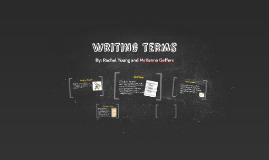 Writing terms