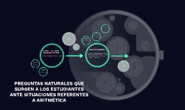 PREGUNTAS NATURALES QUE SURGEN A LOS ESTUDIANTES ANTE SITUAC