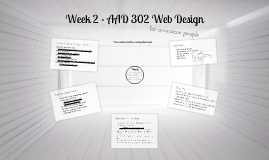 Week 2 - Website Development