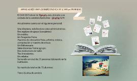 APLICACIÓN DEL CURRICULO EN EL CAM 01
