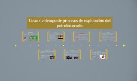 Línea de tiempo de procesos de explotación del petróleo crudo