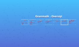 Grammatik - Oversigt