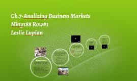 Analizing Business Market
