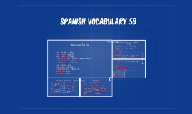 Spanish vocabulary 5B