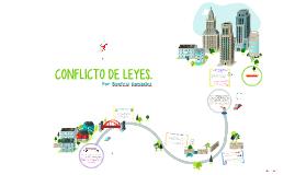 CONFLICTO DE LEYES.