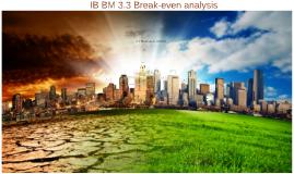 3.3 Break-even analysis