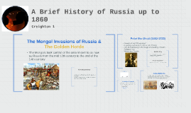 A Brief History of Russia up to 1860