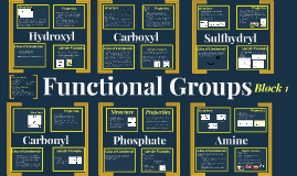 Functional Groups, Block 1