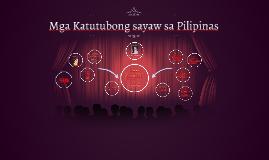 Copy of Mga Katutubong sayaw sa Pilipinas