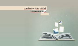 Analyse av ein  statisk  samansatt tekst