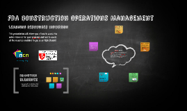 FDA Construction Operations Management