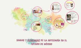 Ramas y subramas de la Artesania en el Estado de México