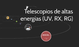 Telescopios de altas energias