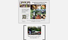 Promotional activities for Taste Montgomery members