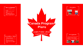 Canada Program Plans
