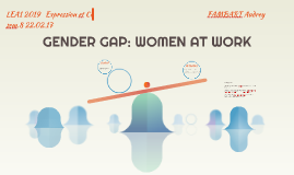 GENDER GAP: WOMEN AT WORK