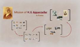 Mission of H.G Appenzeller