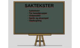 SAKTEKSTER
