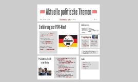 Aktuelle politische Themen