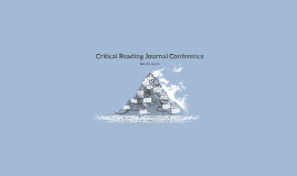 Critical Reading Journal Conference