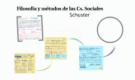 Filosofía y métodos de las Cs. Sociales