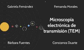Copy of Microscopía electrónica de transmisión (TEM)