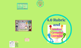 4.0 & Student Centered Learning