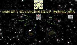 ORIGEN Y EVOLUCIÓN DE LA  PSICOLOGIA