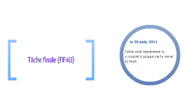 Tache Finale (FIF4U)