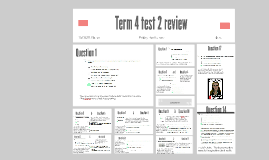 Term 4 test 2 review