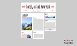 hotel /airbnb New york