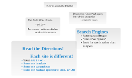 How to Search the Interner