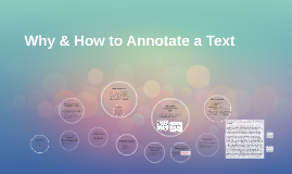 Why & How to Annotate a Text