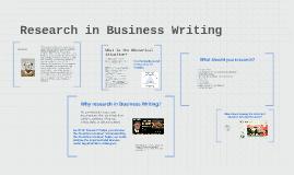 Research in Rhetorical Analysis