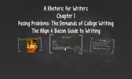 A Rhetoric for Writers