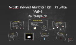 Wechsler Individual Achievement Test - 3rd Edition