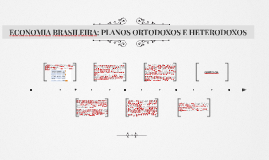 ECONOMIA BRASILEIRA: PLANOS ORTODOXOS E HETERODOXOS