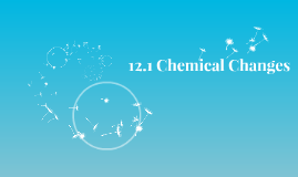12.1 Chemical Changes