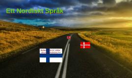 Ett Nordiskt Språk