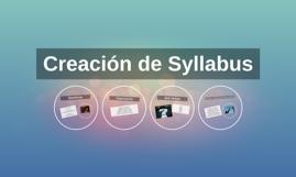 Creación de Syllabus