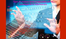 Tipos de transacciones propiciadas por la tecnología dual