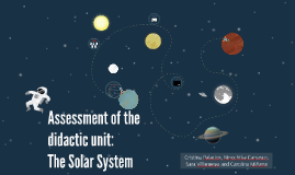 Assessment of the didactic unit: The Solar System