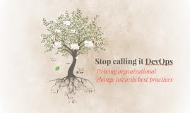 Stop calling it DevOps