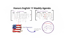 11 Honors English Weekly Agendas