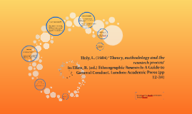 Theory, methodology and the research process