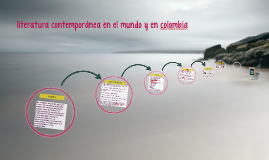 literatura contemporanea en colombia y en el mundo