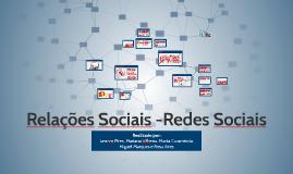 Relações Sociais -Redes Sociais