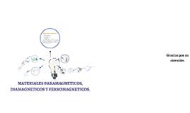 Copy of MATERIALES PARAMAGNETICOS, DIAMAGNETICOS Y FERROMAGNETICOS.