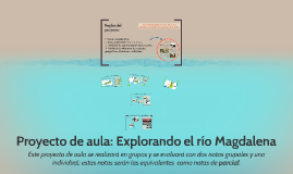 Proyecto de aula: Explorando el río Magdalena